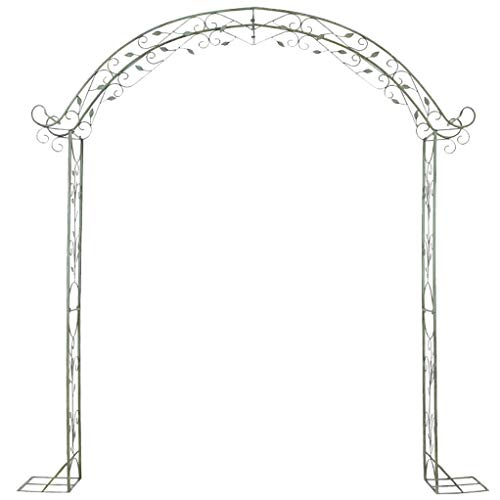 RuBao Large Metal Lattice Garden Arch,Arch Wedding Rose Archway Ornament,Arbour Pergola For Climbing Plants Trellis Support,Garden Patio Outdoor
