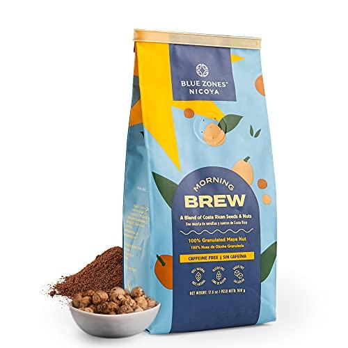 Blue Zones Nicoya - Morning Brew Maya Nut, All-Natural Coffee Alternative, Ground Coffee Substitute, 1.1 lb