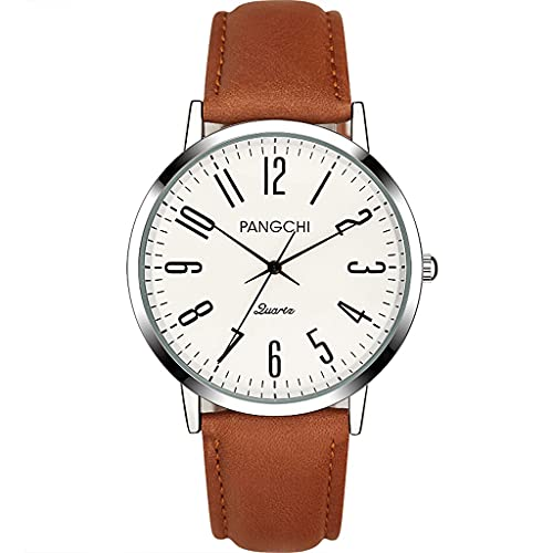 XIAOQIAO Relojes para Hombres y Mujeres, Relojes Simples Informales Digitales, diales de números árabes, Relojes de Cuero. (Color : Male, tamaño : A1)