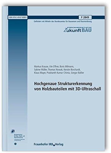 Hochgenaue Strukturerkennung von Holzbauteilen mit 3D-Ultraschall. Abschlussbericht.