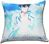 xububaihuodian Kissenbezüge Free! Timeless Medley - Bond - Haruka Nanase Polyester Comfortable Pillowcase Cushion Case Home Decor 18 x 18 Inches Design Throw Pillow Cover