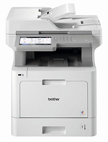 Brother MFC-L9570CDW Professionelles 4-in-1 Farblaser-Multifunktionsgerät (31 Seiten/Min., Drucker, Scanner, Kopierer, Fax) weiß/grau