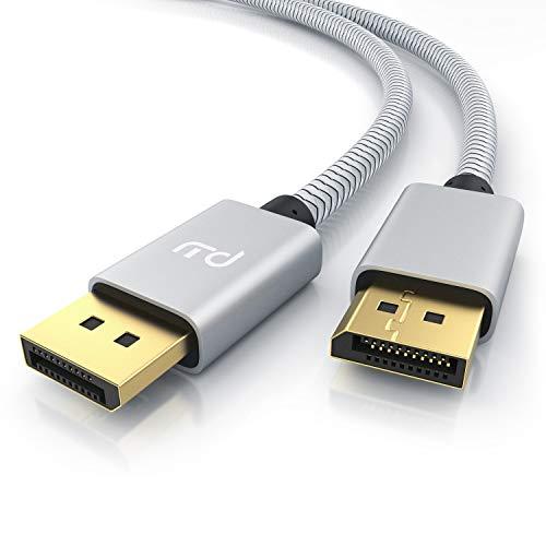 Primewire – 8k Premium DisplayPort Kabel - 1m - DP 1.4 zu DP 1.4 - 8k @ 60 Hz 4k @ 120 Hz – UHD II - bis zu 32,4 Gbit - zur Verbindung von Desktop-PC und Notebooks mit Monitoren und Projektoren