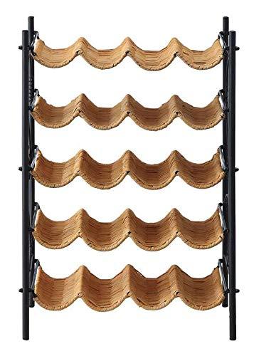 Wicker Wine Rack in Honey