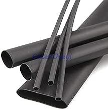 2pcs/lot 2 Meters Black 5mm Heat Shrink Heatshrink Heat Shrinkable Tubing Tube Sleeving Wrap Wire Black Color