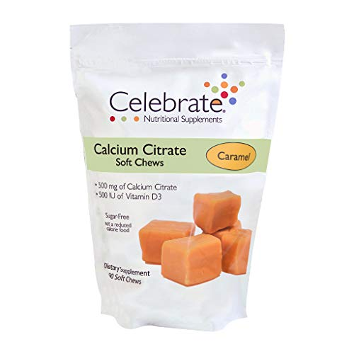Celebrate Calcium Citrate Soft Chews, 500 mg, Caramel - 90 Count