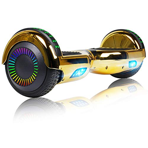 """Felimoda Hoverboard for Kids Ages 6-12, 6.5"""" Two-Wheel Self Balancing Hoverboard with Bluetooth and LED Light, UL2272 Certified"""
