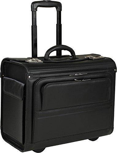 Business Pilotentrolley Aktenkoffer Pilotenkoffer Laptop-Fach 17´´ Akten Trolley Koffer 46x37x23 cm Schwarz Bowatex