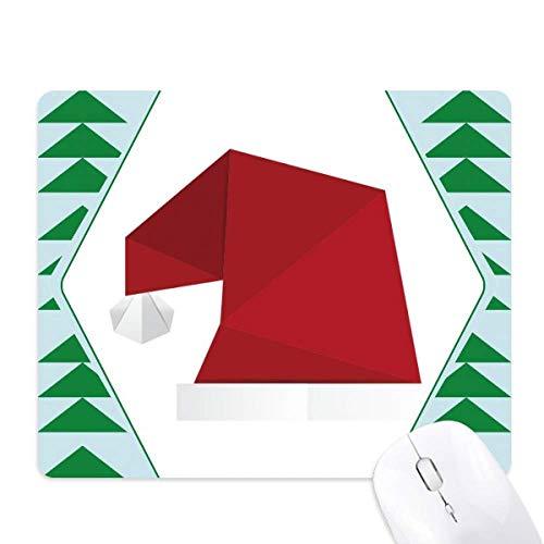 Abstract kerstmuts Origami patroon muismat groene dennenboom rubberen mat