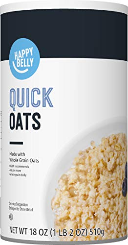 Amazon Brand  Happy Belly Quick Cook Oats 18 Ounce