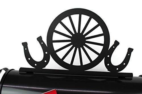 Western Wagon Wheel and Lowest price challenge Horse Metal Shoes Topper Mailbox Rare