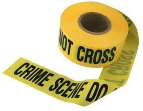 COLIBROX 'crime scene do not cross' barricade movie prop tape ~ 50 FEET LONG!