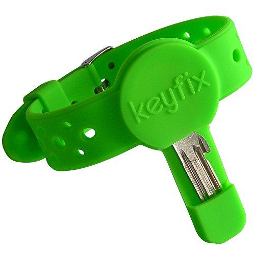 keyfix Pulsera de Llaves XL, Pulsera de Fitnes de Llaves para Correr, Nadar, Caminar, Pulsera para Correr, Verde KF03