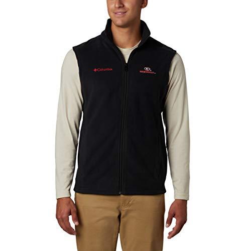 Columbia - Chaleco de Flanker para Hombre, NCAA, Chaleco Colegiado Flanker II, Hombre, Color UGA - Negro, tamaño L