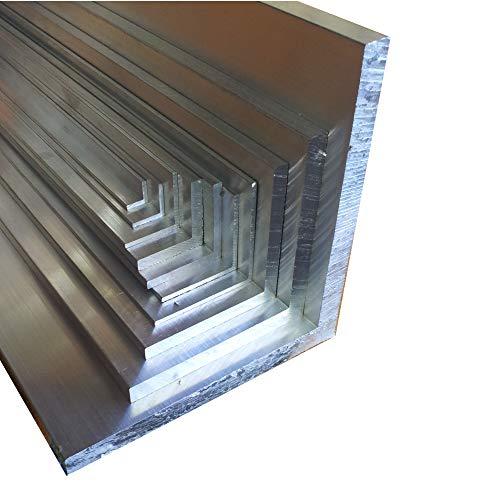Aluwinkel 20 x 20 x 2 mm Winkelprofil gleichschenklig Alu Winkel Aluprofil Aluminiumprofil L Profil aus Aluminium (200 cm)