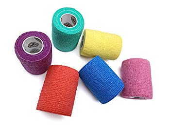 WildCow 3 Inch Vet Tape Wrap Bulk Bandages Colored  Pack of 6  …