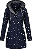 Top Fuel Fashion Damen Softshell-Kurzmantel IVANA - blue/white dots