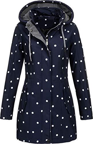 Top Fuel Fashion Damen Softshelljacke Kurzmantel Ivana Blue/White XL