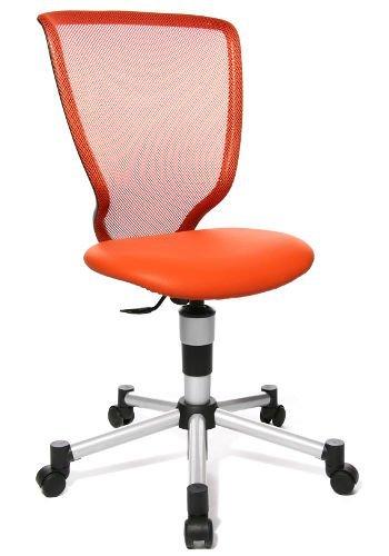 Topstar Kinder Bürostuhl/Drehstuhl Titan JUNIOR Netzstoff/Kunstleder orange