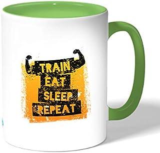 be strong Coffee Mug by Decalac, Green - 19036