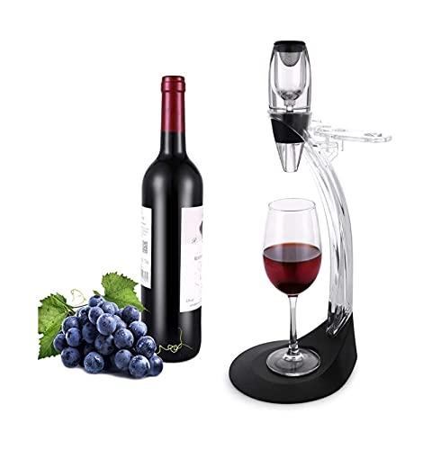 Vierte del aireador de vino, aireador de vino tinto, decantador de vinos pequeños, elegante Difusor de diseño con base de vinos, perfecto for la barra de la fiesta en el hogar, incluida una caja de re