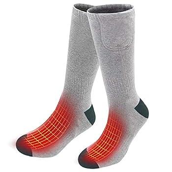 Chaussettes chauffantes JANRSTIC, Chaussettes Chaudes chauffantes électriques Rechargeables pour Hommes, Couvre-Pieds de Camping pour Femmes, utilisées pour l'équitation, Le Ski et Les Motos.