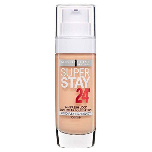 2 x Maybelline Superstay 24H Fresh Look Longwear Foundation 30ml - 030 Sand