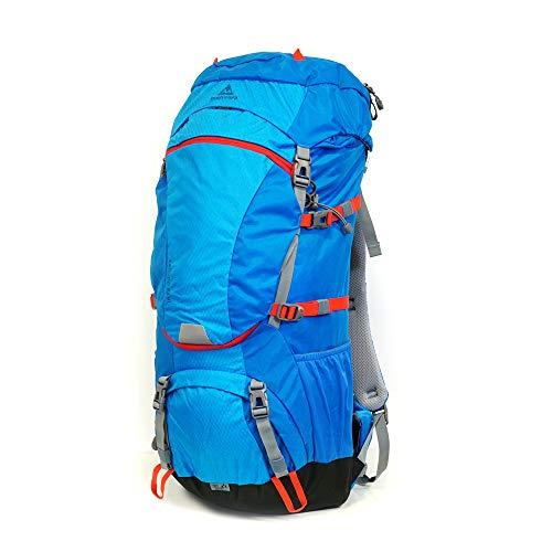 mapuera Camino Azul – Mochila de trekking de 40 l con apertura frontal y acceso de 3 vías incluido, funda para la lluvia, ideal para senderismo, trekking o como mochila de señuelo