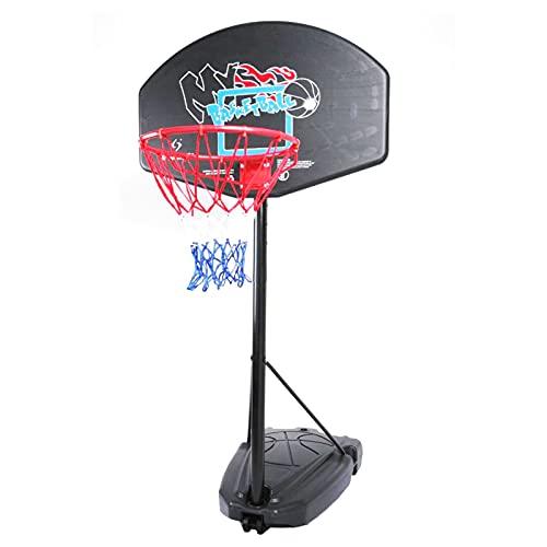 Canasta de Baloncesto Soporte De Aro De Baloncesto Portátil, Aro De Baloncesto Interior Y Exterior De Altura Ajustable, Tablero De Entrenamiento De Baloncesto para Niños Adolescentes