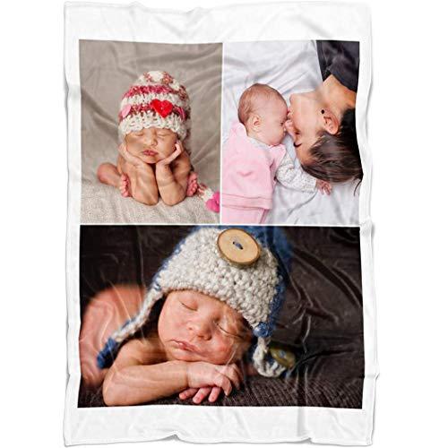 yyfq Manta Personalizada con Foto,Personalizado con Foto Manta Regalos de Foto de Cumpleaños de Boda Bebé Pareja Sofá Mantas para Cama (150x130cm)