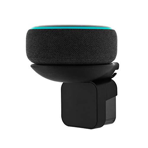 Wandhalterung für Echo Dot (3. Generation), verdecktes Kabel, kein Schrauben oder Kleber für Wände, platzsparende Montagehalterung für Küche, Bad und Schlafzimmer Made in Italy 100% (Schwarz)