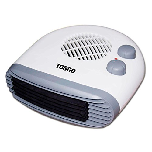 [TO-CA2180H] TOSGO Calefactor Horizontal de Aire Caliente con Termostato Regulable. Función de Aire Caliente o Ventilador Temperatura Ambiente. 2000w. Color Blanco.