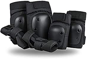 SzBlaze Knee Pads Elbows Pads Wrist Guards 3 in 1 Safety Protective Gear Set for Skateboarding Inline Roller Skating BMX...
