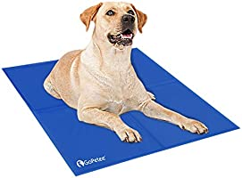 GoPetee Dog Cooling Mat Self-Cooling Pad Non-toxic Gel Summer Sleeping Bed Comfort for Small Large Dogs Pets Cats Puppy...