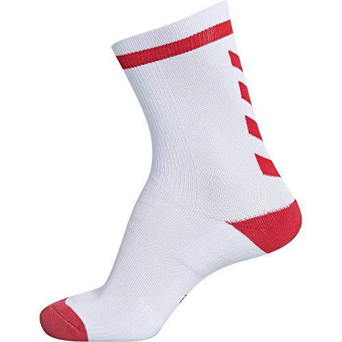 hummel Elite Indoor Sock Low, Weiß/True Rot, 39/42