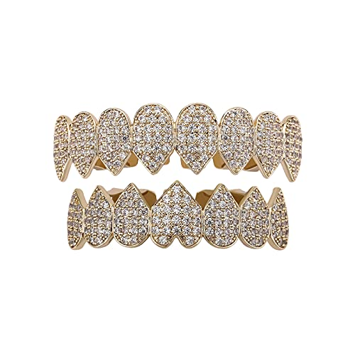 Fantex Iced Out Bling Lab Diamond Punk Dientes Grills,...