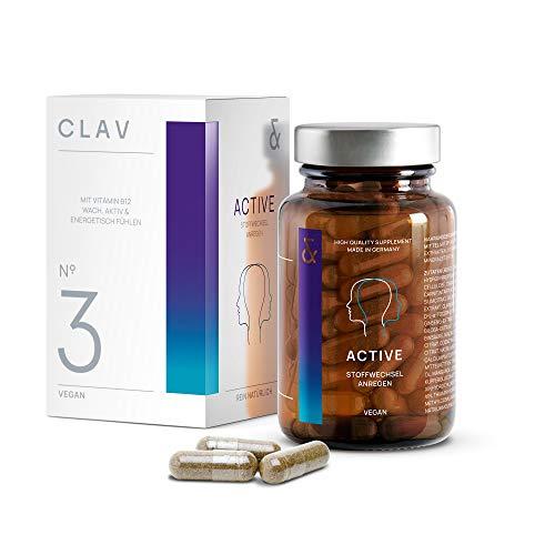 N°3 Active | B-Komplex + 300μg Biotin + 20mg Coenzym Q10 | Natürliche Pflanzenextrakte + Multi-Vitamine + Mineralien | Energie-Tabletten gegen Müdigkeit und Erschöpfung | 60 Kapseln | Vegan