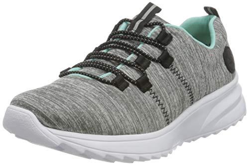 Rieker Damen N6653 Sneaker, grau, 40 EU