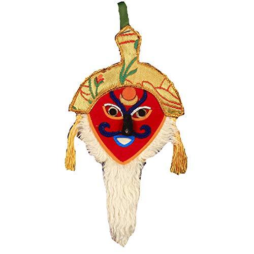 Budismo Tibetano Rojo Tibetano Flor De Gesang Tradicional Hecha A Mano Cara Roja Mscara De pera Tibetana Artesana Tibetana Decoracin De Pared Color