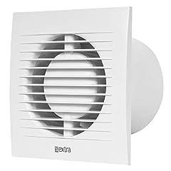 100mm badventilator met vochtigheidssensor en timer - witte, stille ventilator*