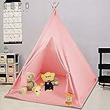 LUVODI Tipi Enfant Intéieur- Tente de Jeux avec Tapis et Fenêtre Décoratif, Tente pour Chambre d'enfants, Cadeau Parfait pour...