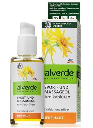 Alverde–Öl für Sport und Massagen–arnica- Flowers 100ml