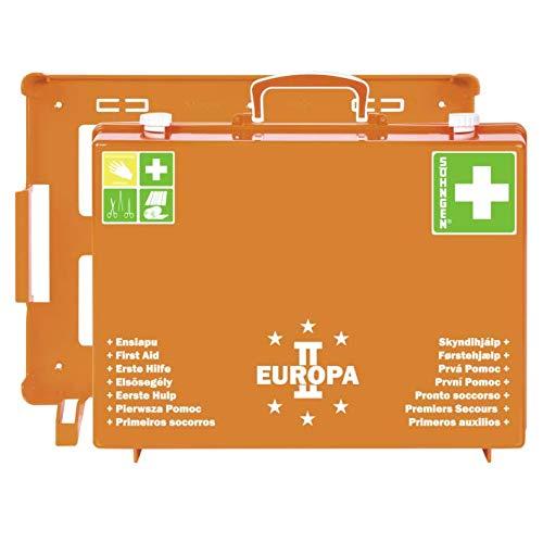 Söhngen EHBO-koffer Europa II gevuld (met wandhouder, vulling volgens DIN 13169, met wondverbanden, reddingsdeken) oranje, 03001357
