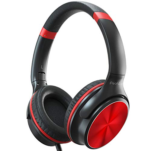 PeohZarr Headphones with Microphone, Over Ear Headphones with Sound...