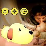 Nachtlicht Kinder LED Nachttischlampe Schlummerlicht Stimmungslicht USB-Ladeoption Silikon Nachtlichter