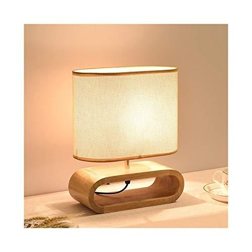 HoneyJuan nachtkastlampje licht Nordic eikenhouten tafellamp Moderne woonkamer slaapkamer bedlampje startskant decoratief nachtlampje nachtkastje lamp