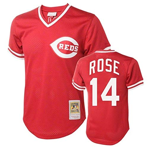 Pete Rose Cincinnati Reds Men's Red Batting Practice Jersey (XX-Large)
