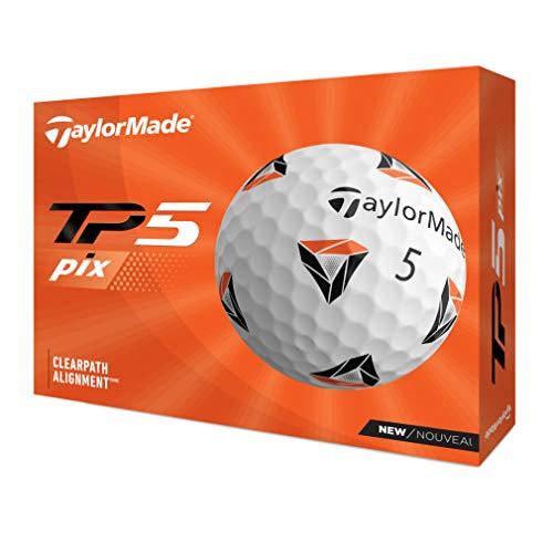 TAYLOR MADE(テーラーメイド) TP5 pix(ティーピーファイブ ピックス) ゴルフボール 5ピース 2021年モデル N0803201 ホワイト