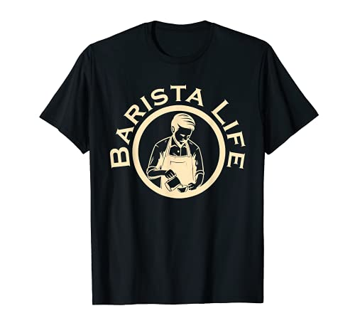 Barista Life Café Portafiltro Espresso Homebarista Cafeína Camiseta