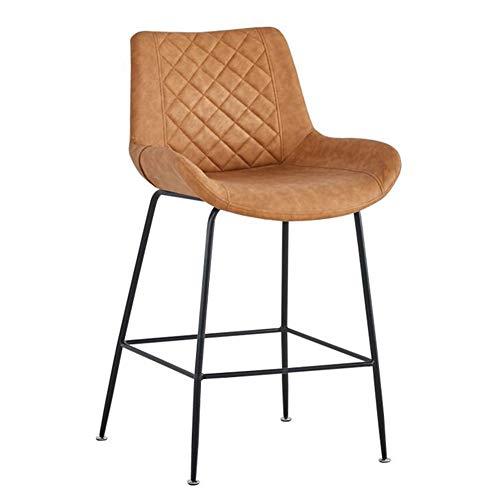 QIDI-decoratie voor thuis, barkruk, Scandinavische barstoel van smeedijzer, ergonomisch design, van leer, stof voor bar, receptie, café, voor thuisgebruik